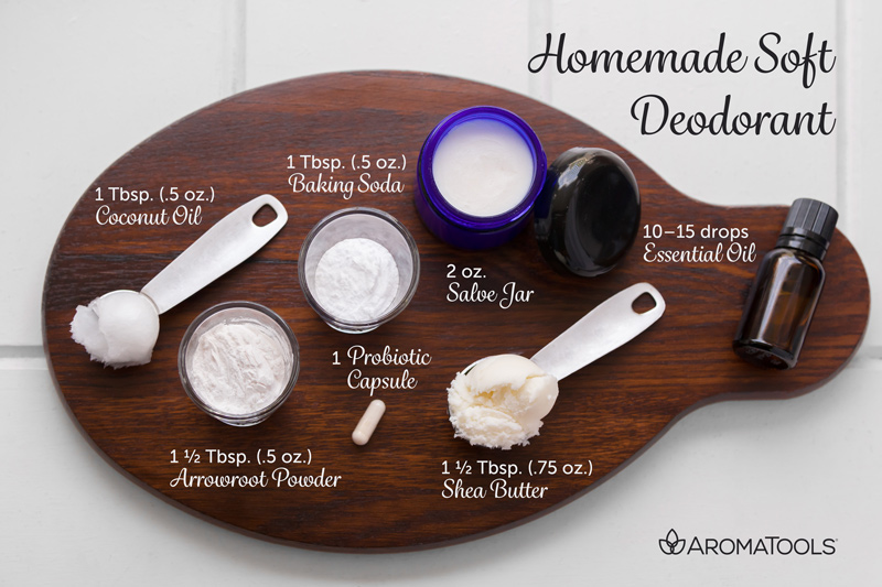 Homemade Soft Deodorant | AromaTools Blog
